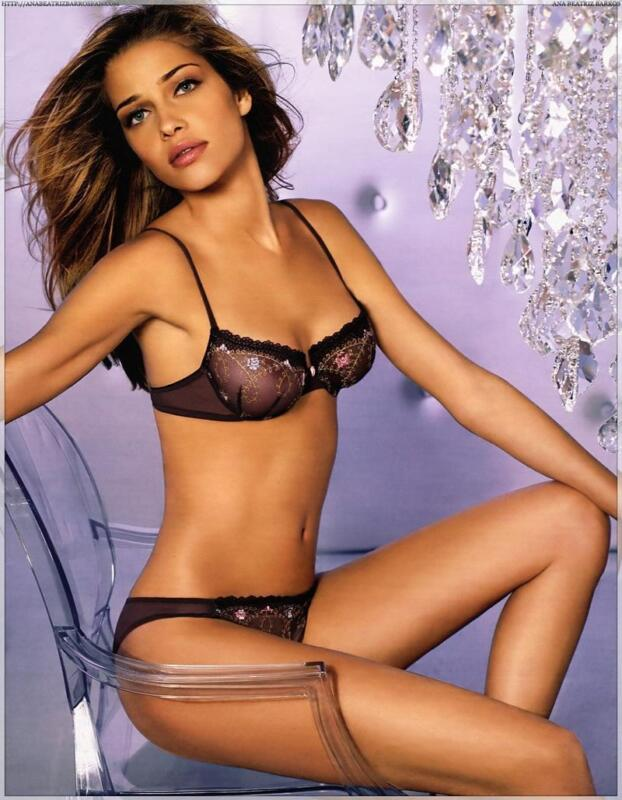 Ana Beatriz Barros In Transarency Lingerie 8x10 Photo Print