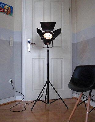 Retro Tripod Film Stehlampe SPOT Studio Set Theater Scheinwerfer Leuchte Lampe