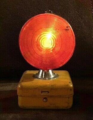 Vtg Amber Dual Flashing Beacon Light Tested Emergency Vehicle British Hong Kong