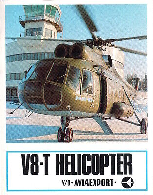 AVIAEXPORT V8-T HELICOPTER SALES LEAFLET RUSSIA CARGO