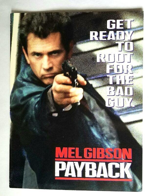 RARE 1999 PAYBACK MOVIE PROMO PRESS SCREENING PROGRAM - MEL GIBSON PORTER