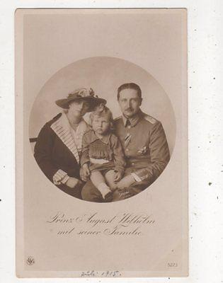 Prinz August Wilhelm & Familie RP Postcard Germany Royalty 043b