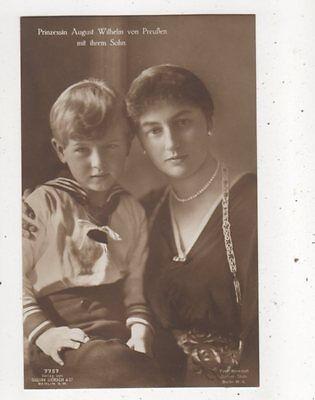 Prinzessin August Wilhelm Von Preussen & Sohn RP Postcard Germany Royalty 044b
