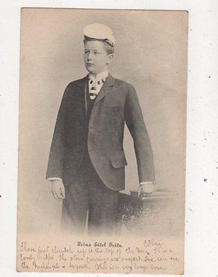 Prinz Eitel Friedrich Vintage Postcard Germany Royalty 038b