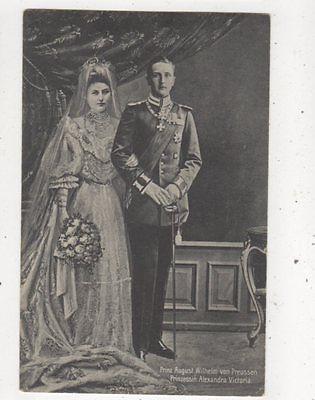 Prinz August Wilhelm Von Preussen Alexandra Victoria Postcard Germany 042b