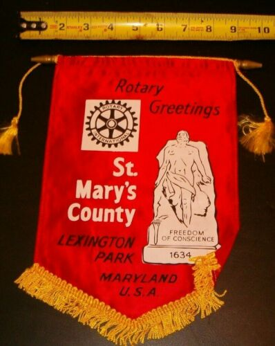 VINTAGE Rotary International Club wall banner flag  ST. MARY