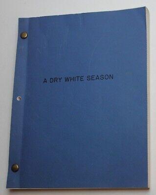 Euzhan Palcy / A Dry White Season, 1987 Movie Script, Donald Sutherland Thriller