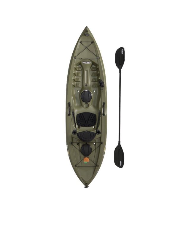 10 ft Fishing Kayak (Paddle Included) Lifetime Tamarack Angler Green Kayaks Pro