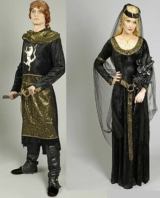 Kostüm Prinzessin Prinz Königin König Mittelalter Ritter Partnerkostüm - König Königin Prinzessin Kostüm
