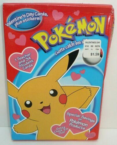 Squished Box Vtg Pokemon Valentine