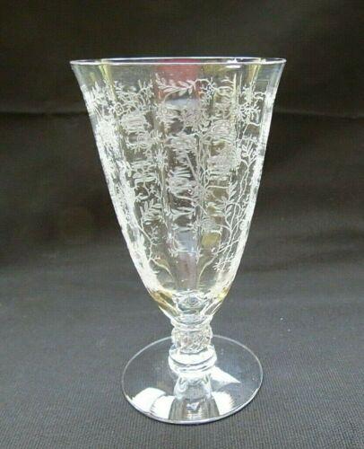 Vintage Fostoria Chintz Etched Crystal Juice Glass - 3 sets of 4