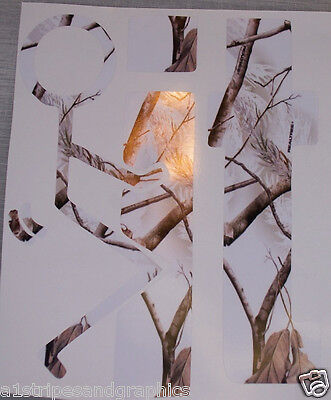 F' It REAL TREE WHITE Camo Window Decal Decals Sticker Mossy Oak Camouflage