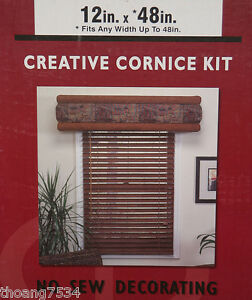 12 x 48 creative cornice kit foam valance drapery fabric for 12 x 48 window