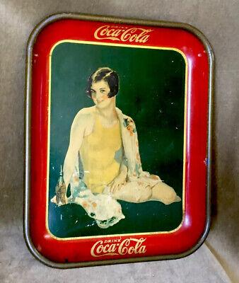 Vintage 1929 Coca Cola Tray Rare Bottle Version TINDECO