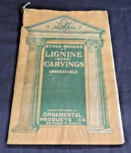 Vintage Lignine Wood Carvings Stock Designs Catalog Ornamental Products Detroit