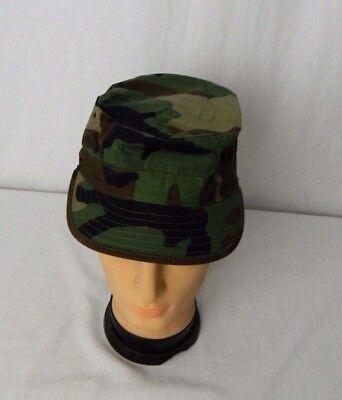 USGI Military Woodland Camo Hot Weather Patrol Hat Cap Size 7