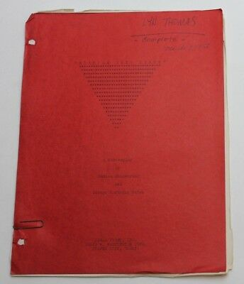 Space Master X-7 / 1958 SHOOTING SCHEDULE used by Actress Lyn Thomas, Sci Fi