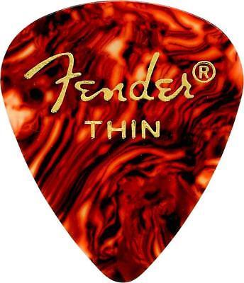 Fender 451 Classic Celluloid Guitar Picks, SHELL - THIN, 12-Pack (Classic Celluloid Shell Thin)