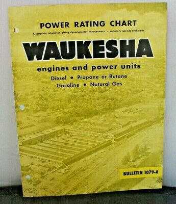 Power Rating Chart Waukesha Engines Power Units Diesel Propane Butane Gas
