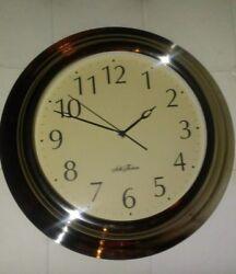 Seth Thomas Quartz Battery Operated Wall Clock XL CLASSIC CHROME FRAME! ~ 15
