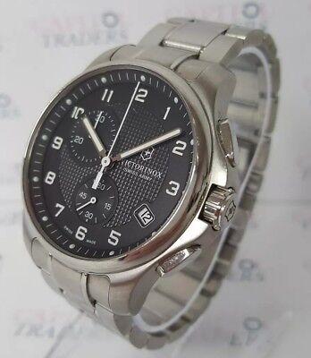 Victorinox 241592 Men's 42mm Classic Officer's Swiss Chronograph S/Steel Watch