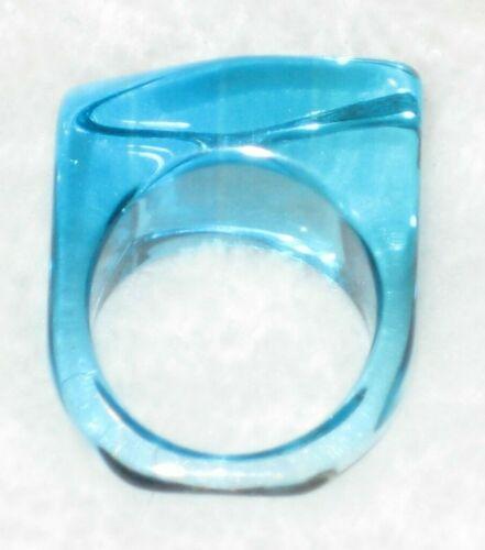 Lucite Light Blue Translucent Ring Size 8