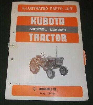Kubota L245h Tractor Parts Manual Book Catalog
