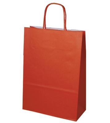 Orange Papiertüten (200 Papiertragetaschen Papiertüten orange 32+12x41cm Tragetaschen Beutel Tüten)