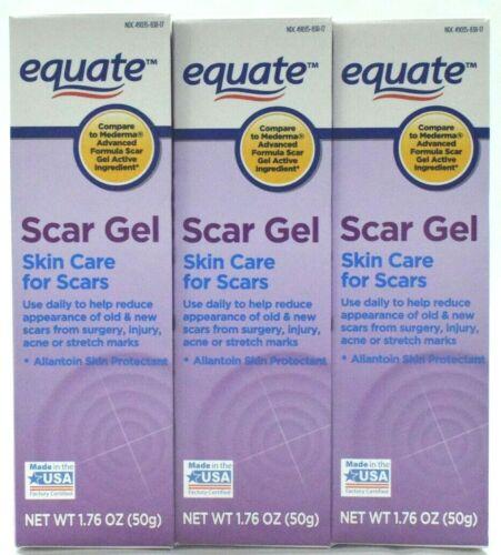 Equate Scar Gel, Allantoin Skin Protectant, 1.76 oz each - 3 Pack