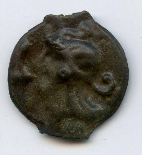 Leuques (The1st Century Av J.C) Potin Coin in the Bull and in the Lis LT.9155