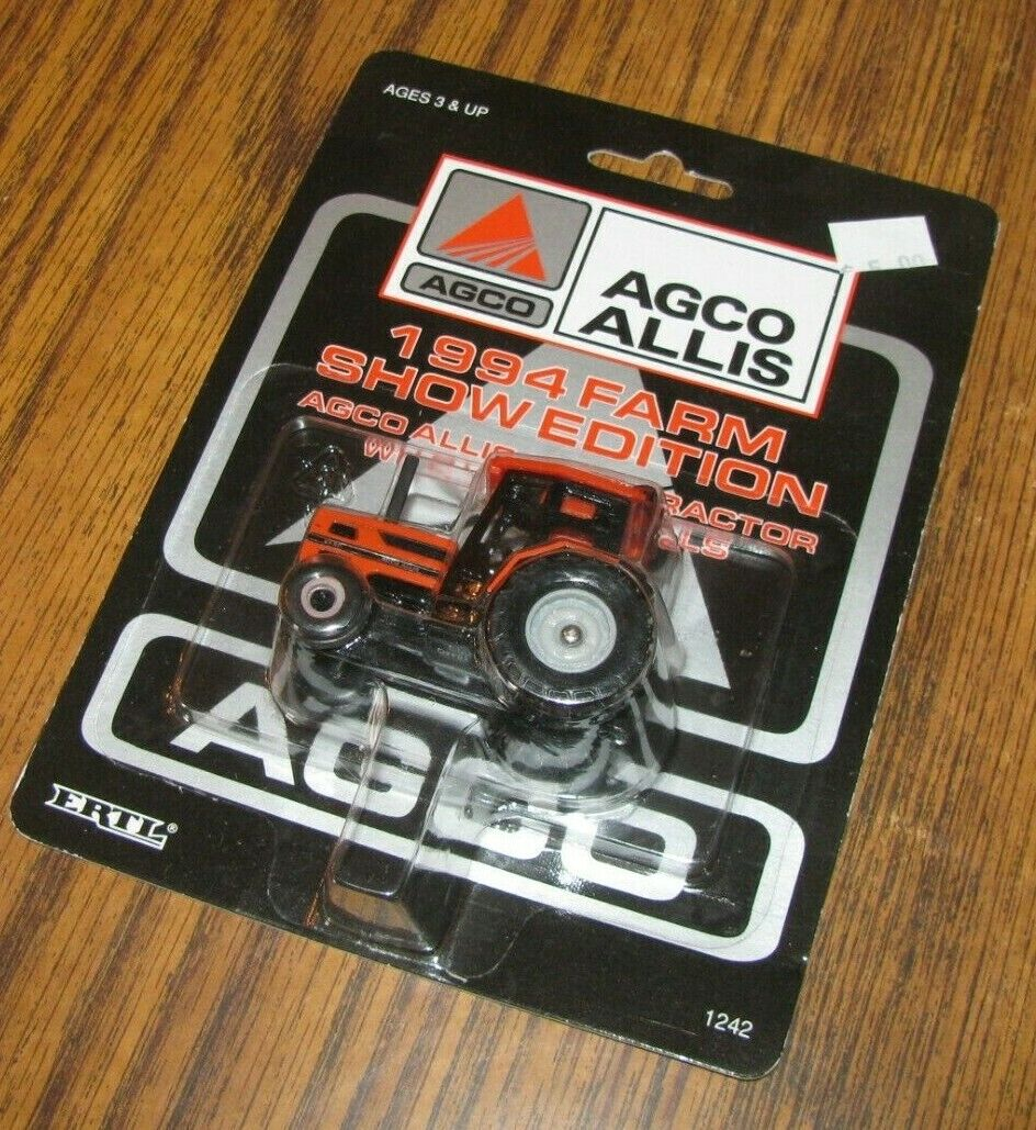 *AGCO ALLIS 6690 Tractor Dual Wheels 1/64 Ertl Toy 1242 1994 Farm Show Edition 2