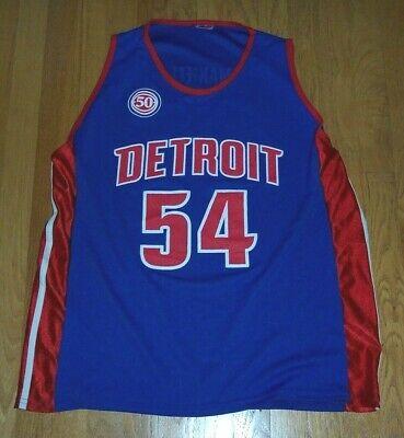 DETROIT PISTONS NBA Basketball Blue Jersey MAXIELL Men's Size LARGE
