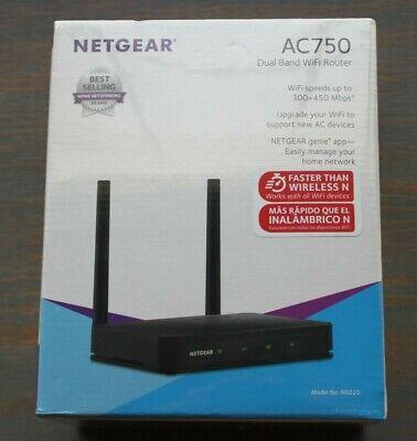 New OPEN/DISTRESS BOX! Netgear R6020-100PAS AC750 Dual Band