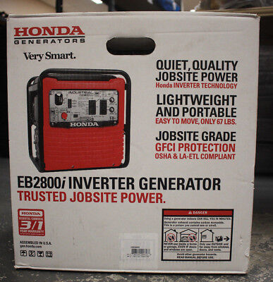 (MA2) Honda EB2800IA 2800W Max/2500W Running Inverter Generator - NEW - PICK-UP