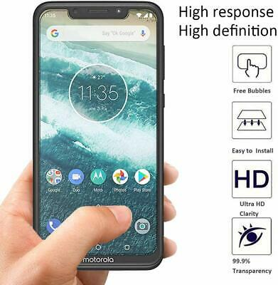 2 x Tempered Glass Screen Protector for Motorola One/Moto P30 Play CASE FRIENDLY