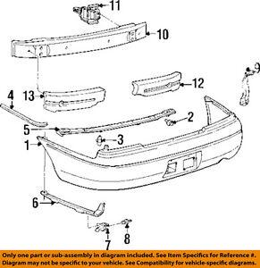 Geo GM OEM 93-97 Prizm Rear Bumper-Bumper Cover Retainer 94852376