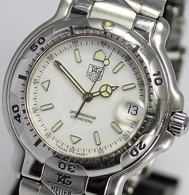 Auth TAG HEUER Men's 6000 Wrist DIVING WATCH 200m WH1111-K1 Quartz_299474
