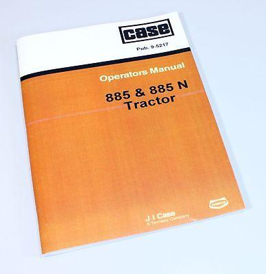 Case David Brown 885 N 885n Tractor Operators Owners Manual