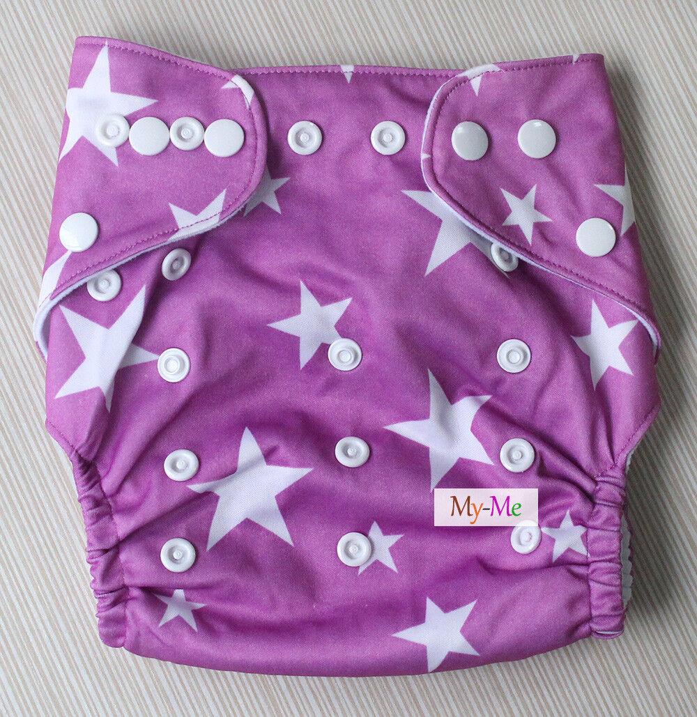 Baby One Size Cloth Diaper Lot Reusable Pocket Nappy Newborn,Reusable,Hip Snap