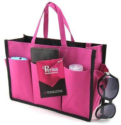 Periea handbag organiser,tidy,organizer,insert bright pink and black-Kristine