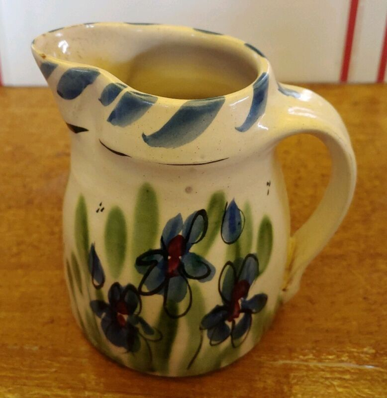 VINTAGE CERAMIC HAND PAINTED CREAMER PITCHER