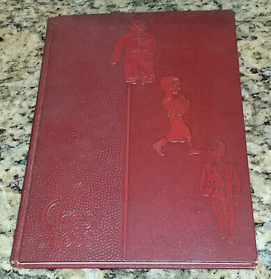 1933 Peoria High School The Crest Peoria Illinois Yearbook