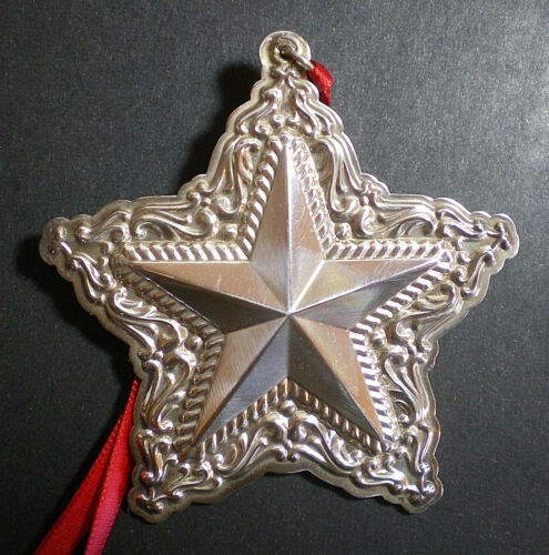 2004 Towle Old Master Star Sterling Christmas Ornament 8th Edition
