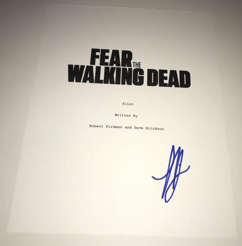 LORENZO HENRIE Signed FEAR THE WALKING DEAD Full Script In Person Autograph
