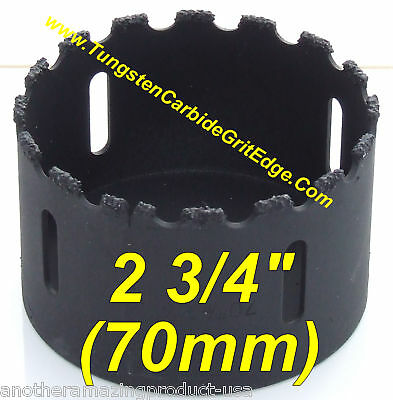 2 34 In Tungsten Grit Carbide Concrete Hole Saw 70mm Wood Marble Slate Cast Hd