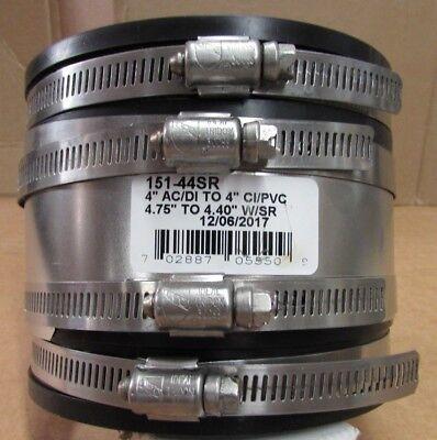 New 4x4 151-44sr Acdi X Cipvc Flexible Pipe Coupling Connector W Shear Ring