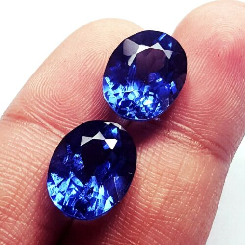 Natural Tanzanite Pair Certified Loose Gemstone 8 to 10 Cts With Free Delivery