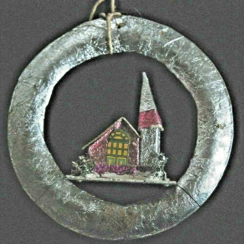 Vintage Christmas Ornaments - Silver Wreath