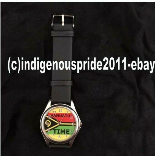 Vanuatu Flag/Vanuatu National Flag Watch-Unisex wrist watch.Great gift. 3