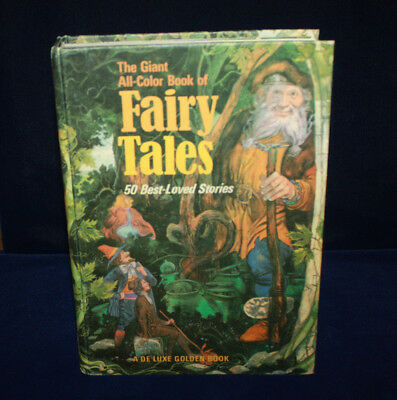 DELUXE GOLDEN BOOK THE GIANT ALL-COLOR BOOK OF FAIRY TALES 50 BEST LOVED (Best Book Of Colors)